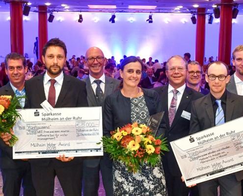 MWA Preisverleihung 2018 mit zwei Preisträgern, RWW © Andreas Köhring