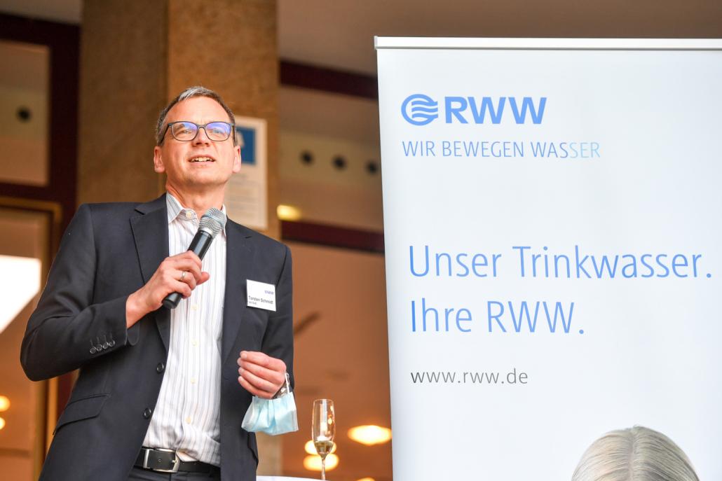 MWA 2020 Preisverleihung: Laudatio Prof. Dr. Torsten C. Schmidt (Foto RWW © Andreas Köhring, September 2020)